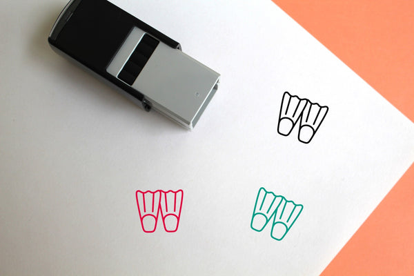 Flippers Self-Inking Rubber Stamp