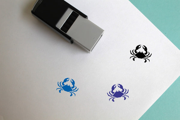 Crab Self-Inking Rubber Stamp