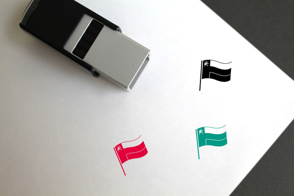 Flag Of Oman Self-Inking Rubber Stamp