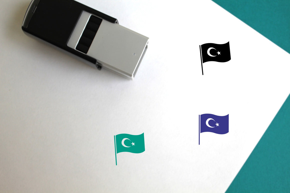 Flag Of Turkey Self-Inking Rubber Stamp