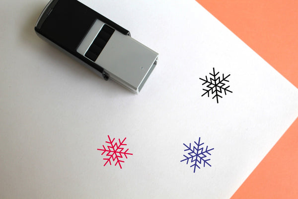 Snowflake Self-Inking Rubber Stamp