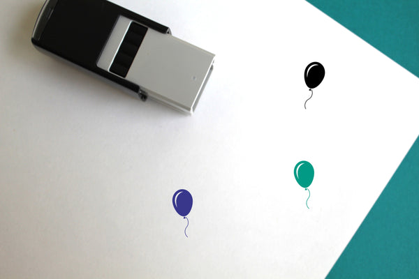 Balloon Self-Inking Rubber Stamp