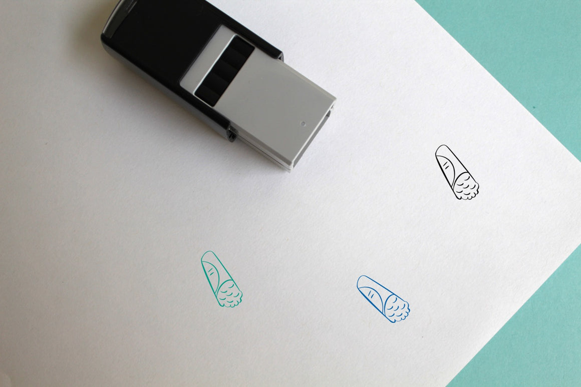 Burrito Self-Inking Rubber Stamp