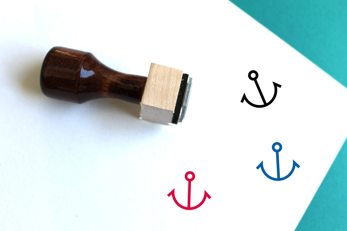 Anchor Wooden Rubber Stamp