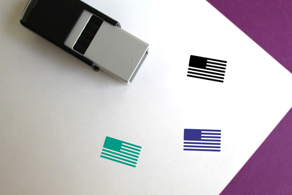 North American Flag Self-Inking Rubber Stamp