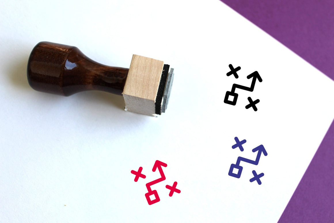 Tactical Strategy Wooden Rubber Stamp