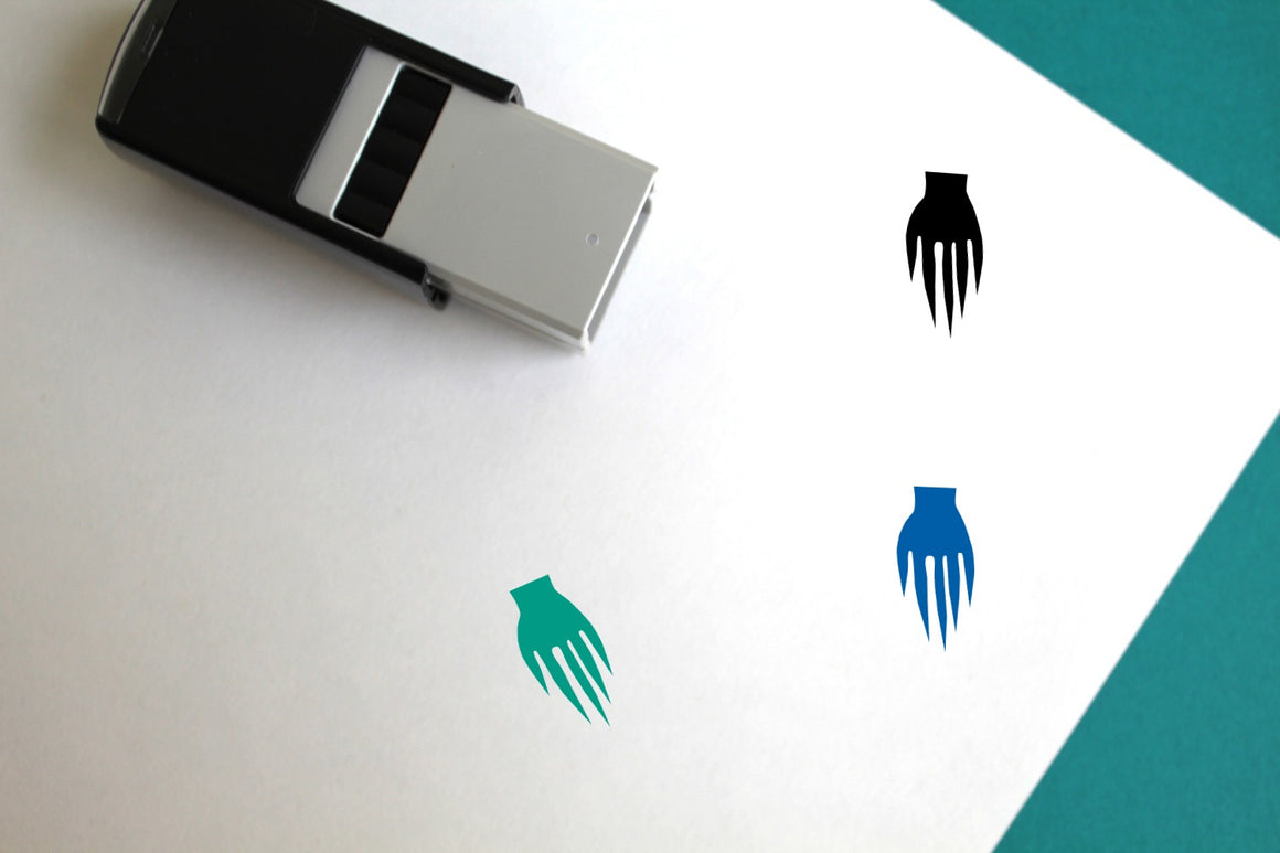 Scary Hand Self-Inking Rubber Stamp