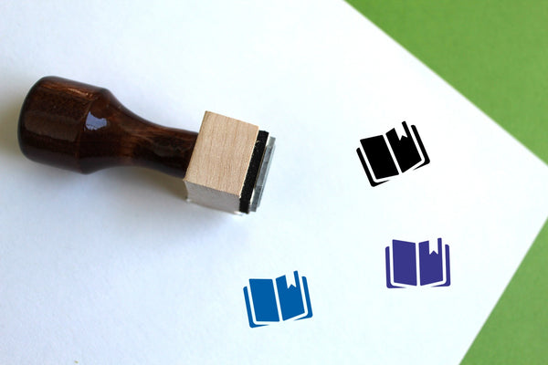 Education Wooden Rubber Stamp