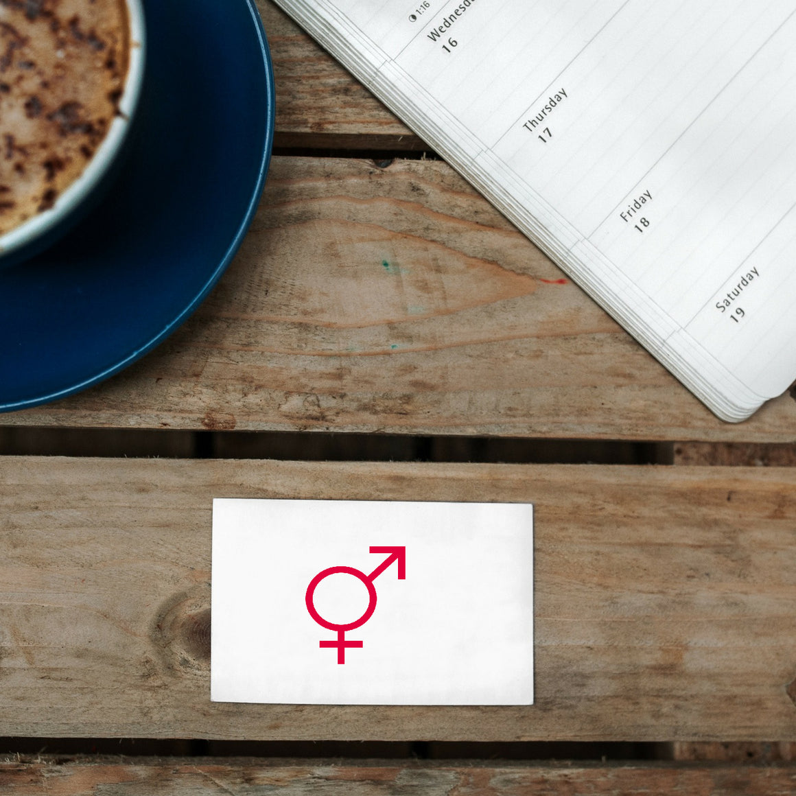 Gender Rubber Stamp