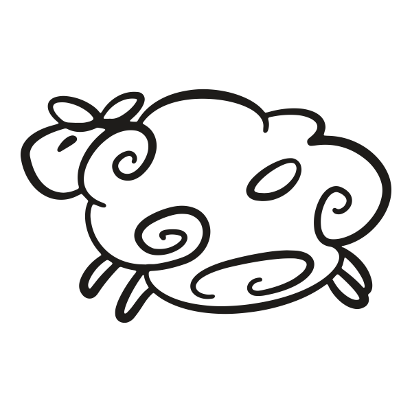 Sheep Rubber Stamp