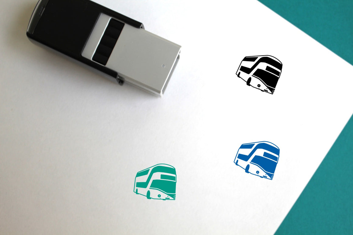 London Bus Self-Inking Rubber Stamp