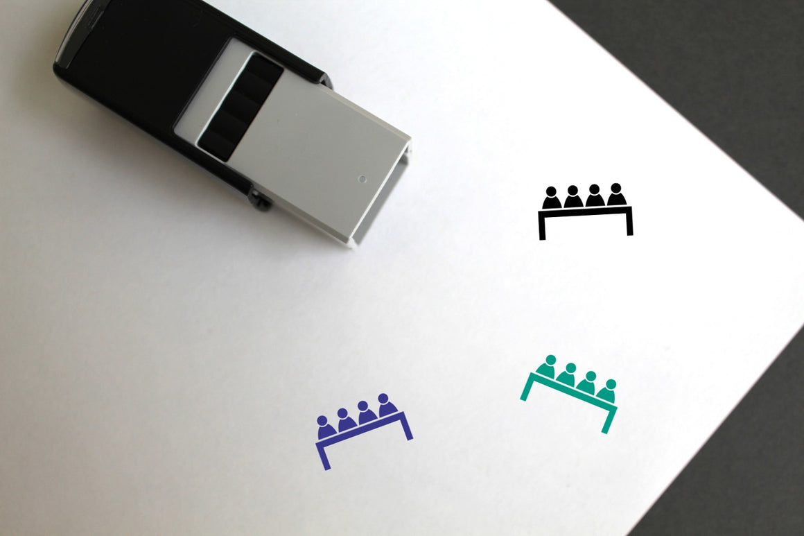 Meeting Self-Inking Rubber Stamp