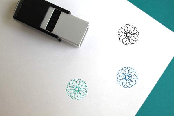 Spirograph Self-Inking Rubber Stamp