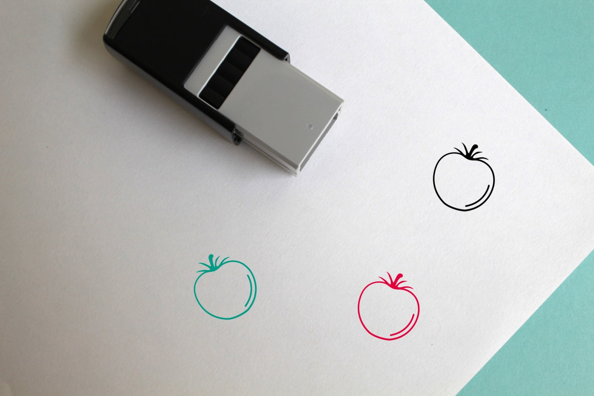 Tomato Self-Inking Rubber Stamp