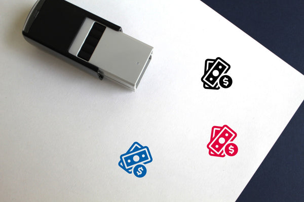 Cash Self-Inking Rubber Stamp