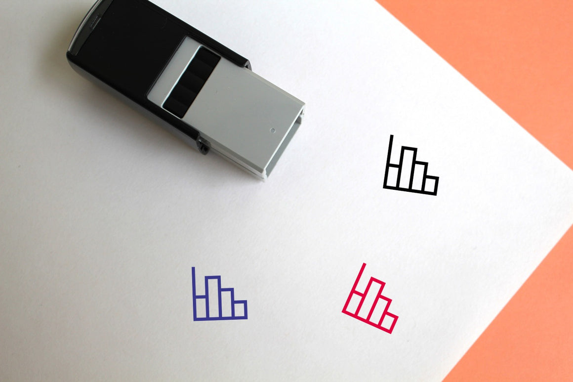Histogram Chart Self-Inking Rubber Stamp