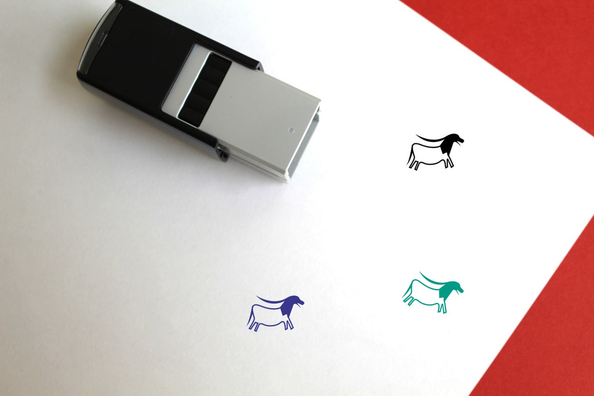 Cave Painting Self-Inking Rubber Stamp