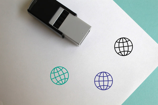 Globe Self-Inking Rubber Stamp