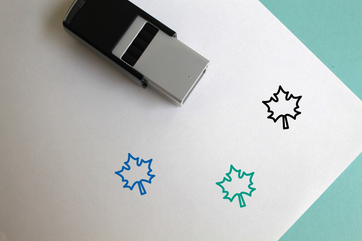 Maple Leaf Self-Inking Rubber Stamp