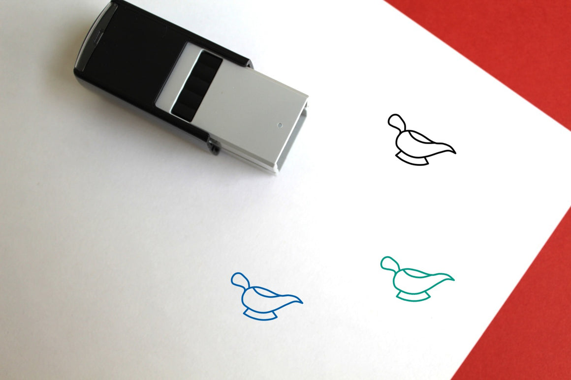 Gravy Boat Self-Inking Rubber Stamp