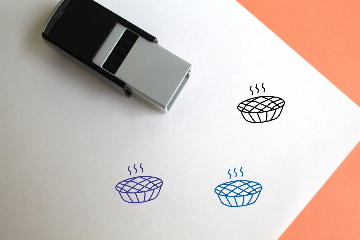 Pumpkin Pie Self-Inking Rubber Stamp
