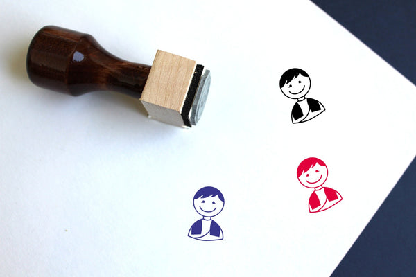 Groom Wooden Rubber Stamp