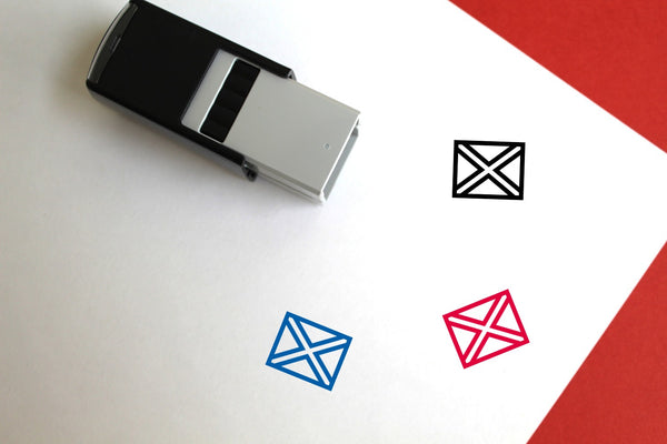 Saltire Self-Inking Rubber Stamp