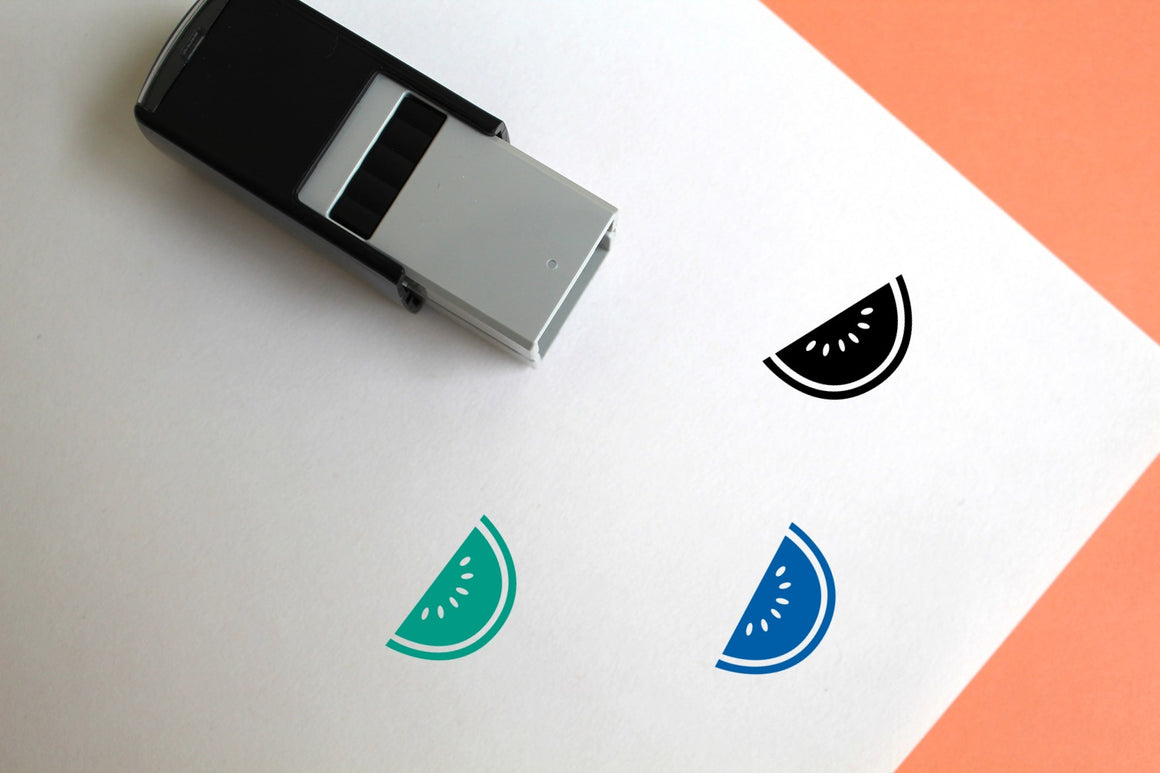 Watermelon Slice Self-Inking Rubber Stamp