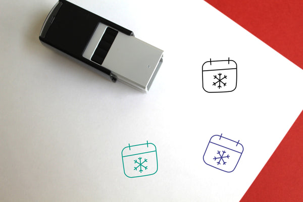 Winter Self-Inking Rubber Stamp