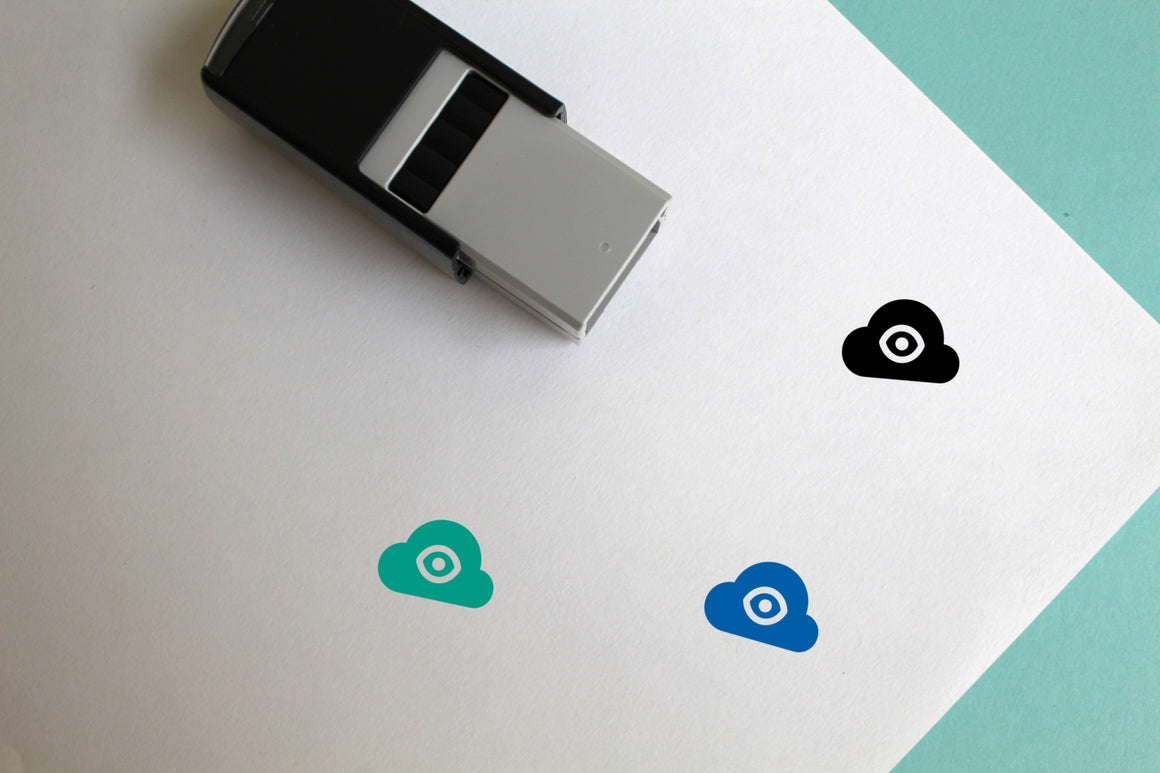 Cloud Watch Self-Inking Rubber Stamp