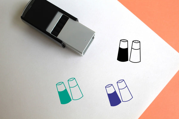 Salt And Pepper Self-Inking Rubber Stamp