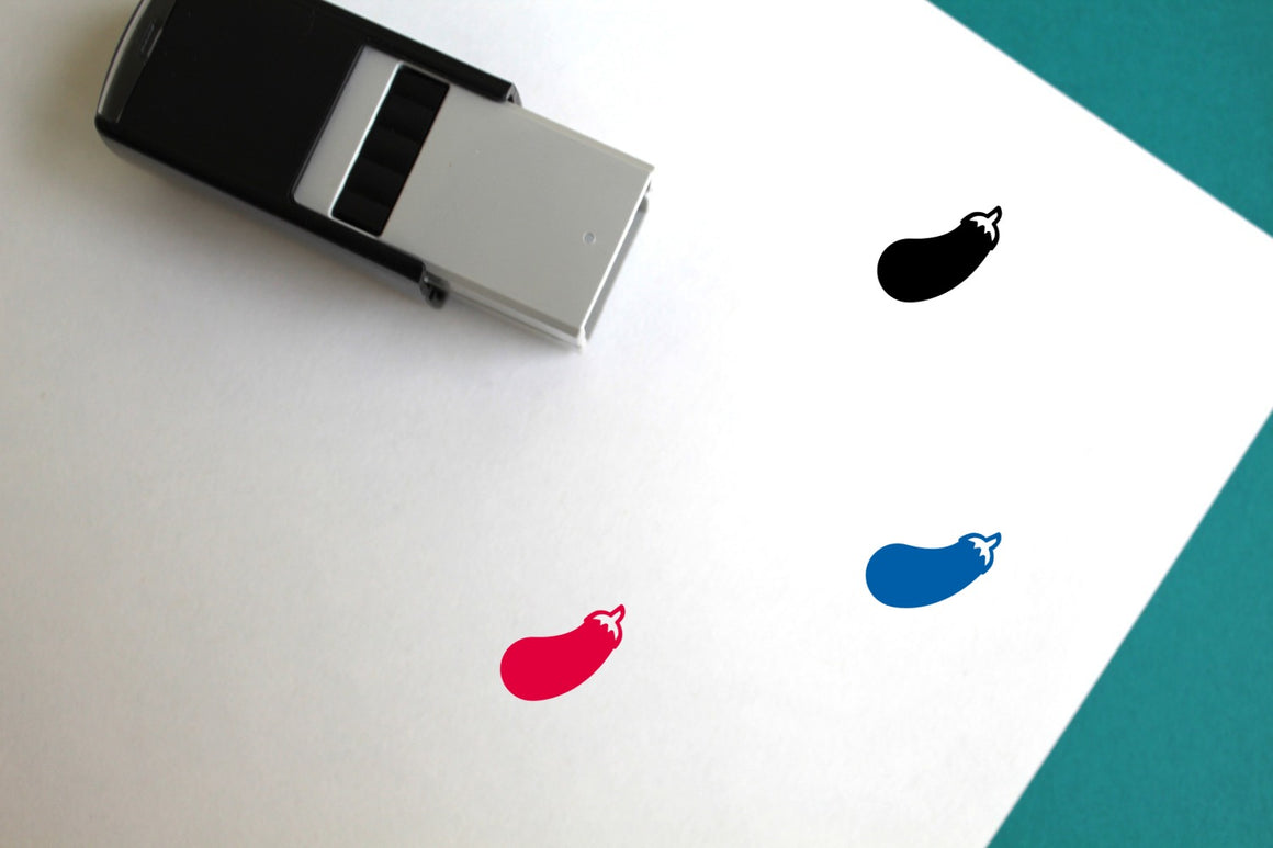 Eggplant Self-Inking Rubber Stamp