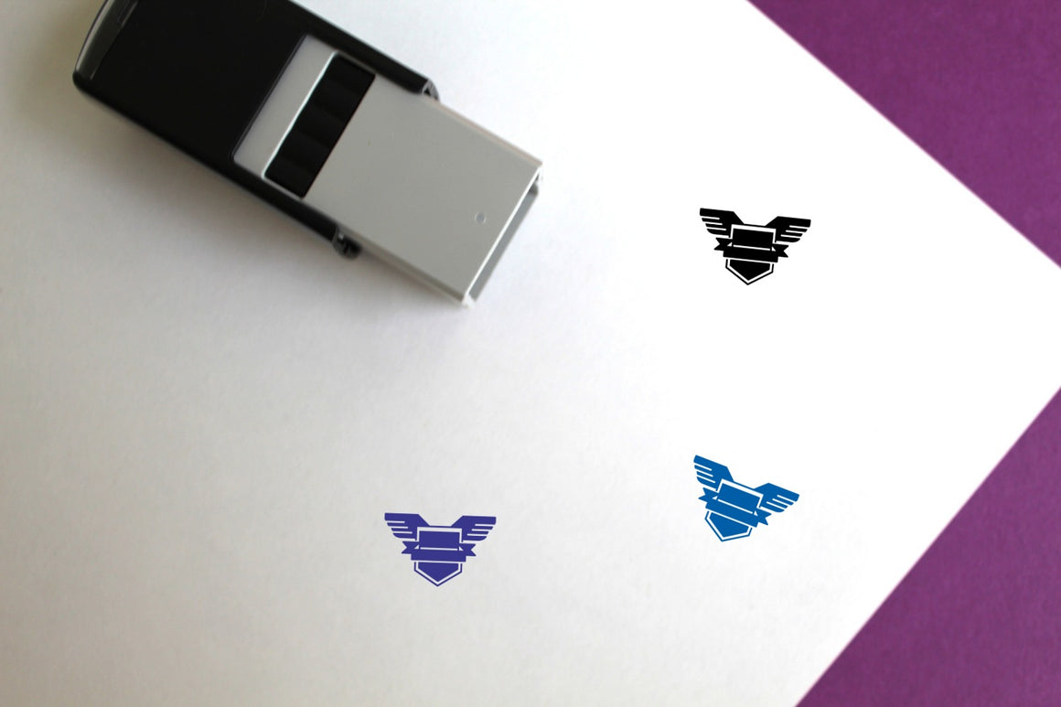 Badge Self-Inking Rubber Stamp
