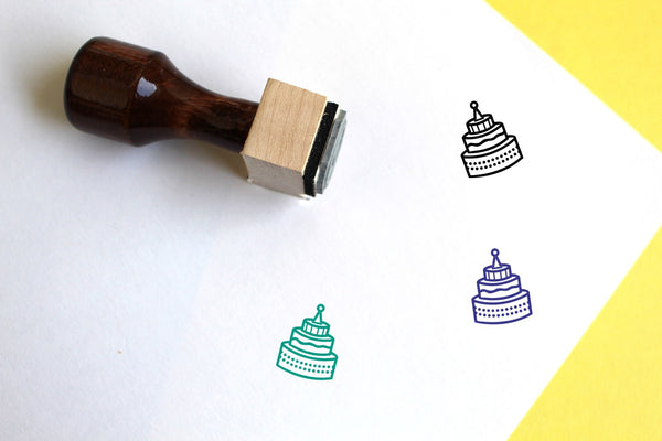 Cake Wooden Rubber Stamp