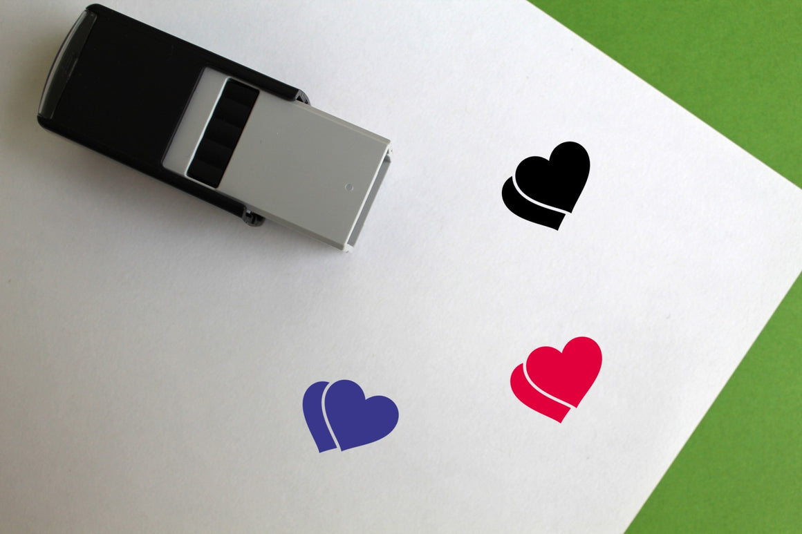 Hearts Self-Inking Rubber Stamp