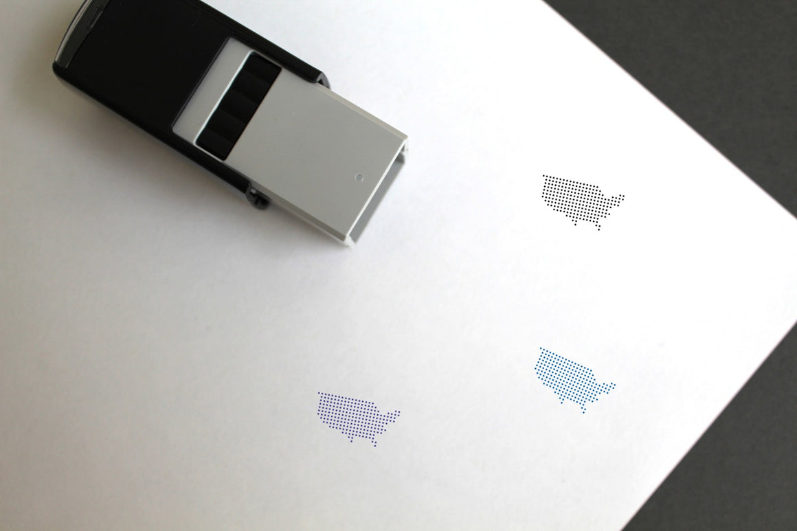 United States Self-Inking Rubber Stamp