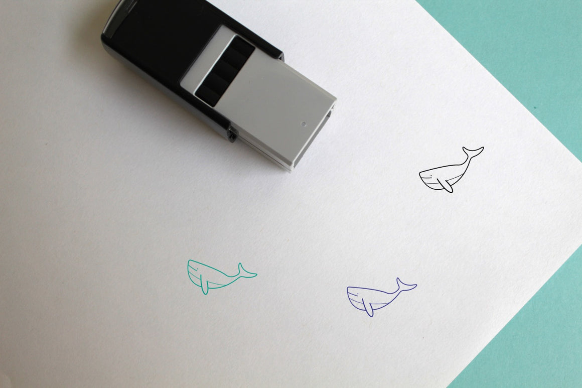 Whale Self-Inking Rubber Stamp