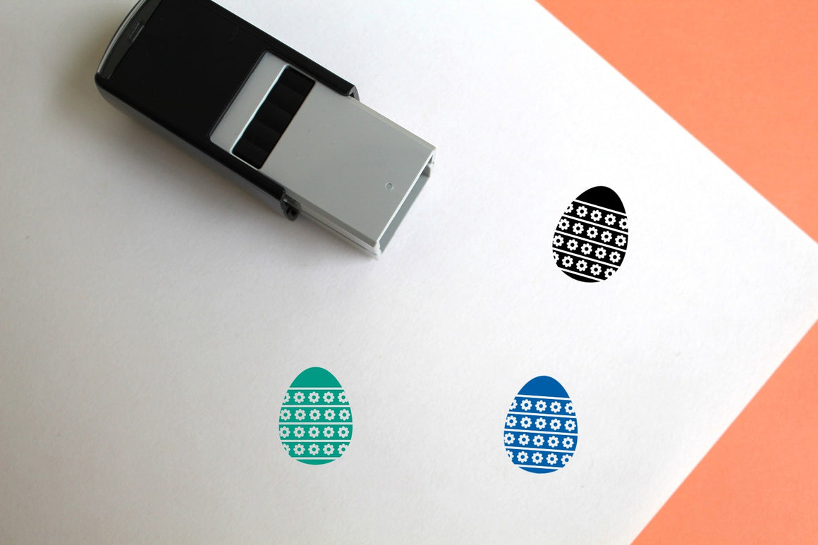Egg Self-Inking Rubber Stamp