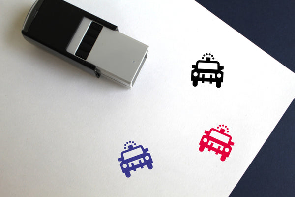 Police Car Self-Inking Rubber Stamp