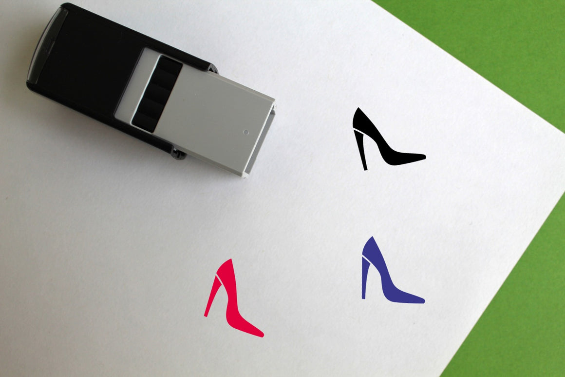 High Heel Self-Inking Rubber Stamp