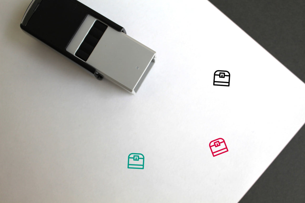 Treasure Chest Self-Inking Rubber Stamp