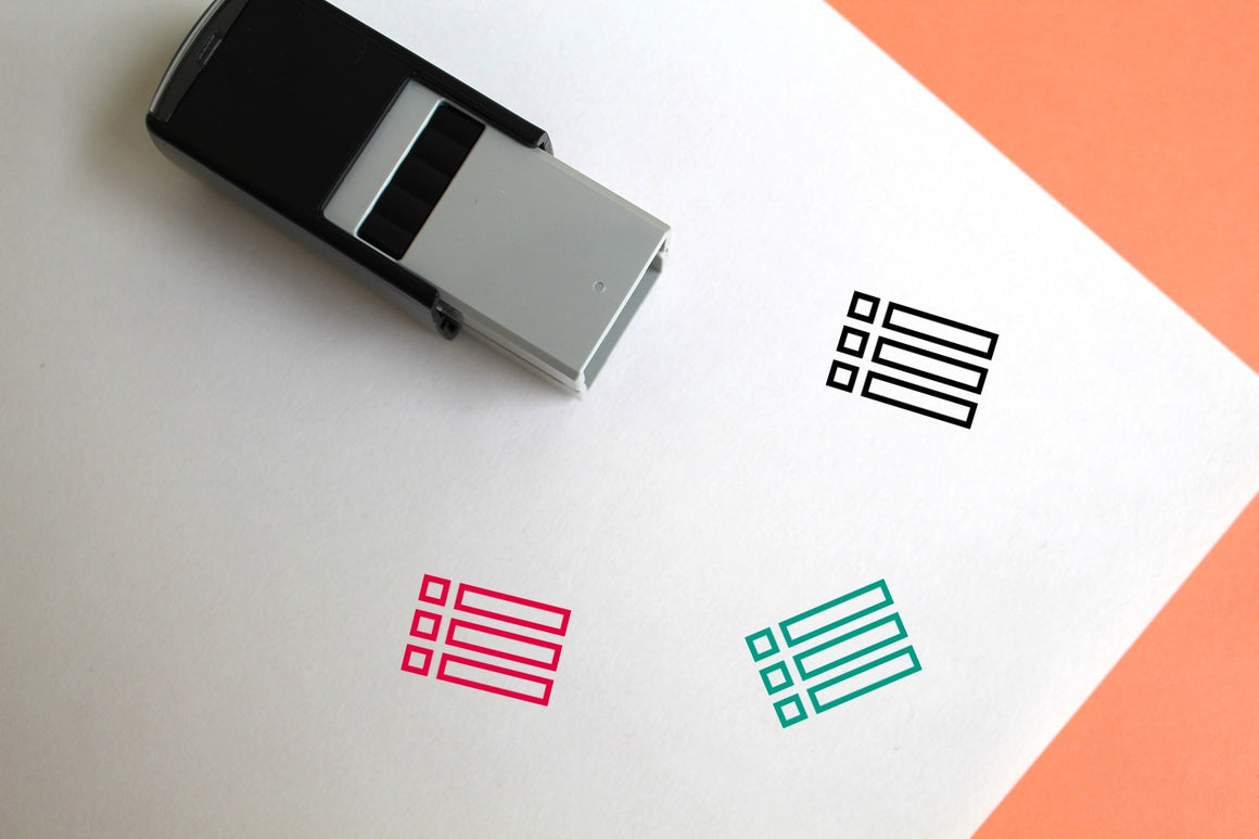 Content Self-Inking Rubber Stamp