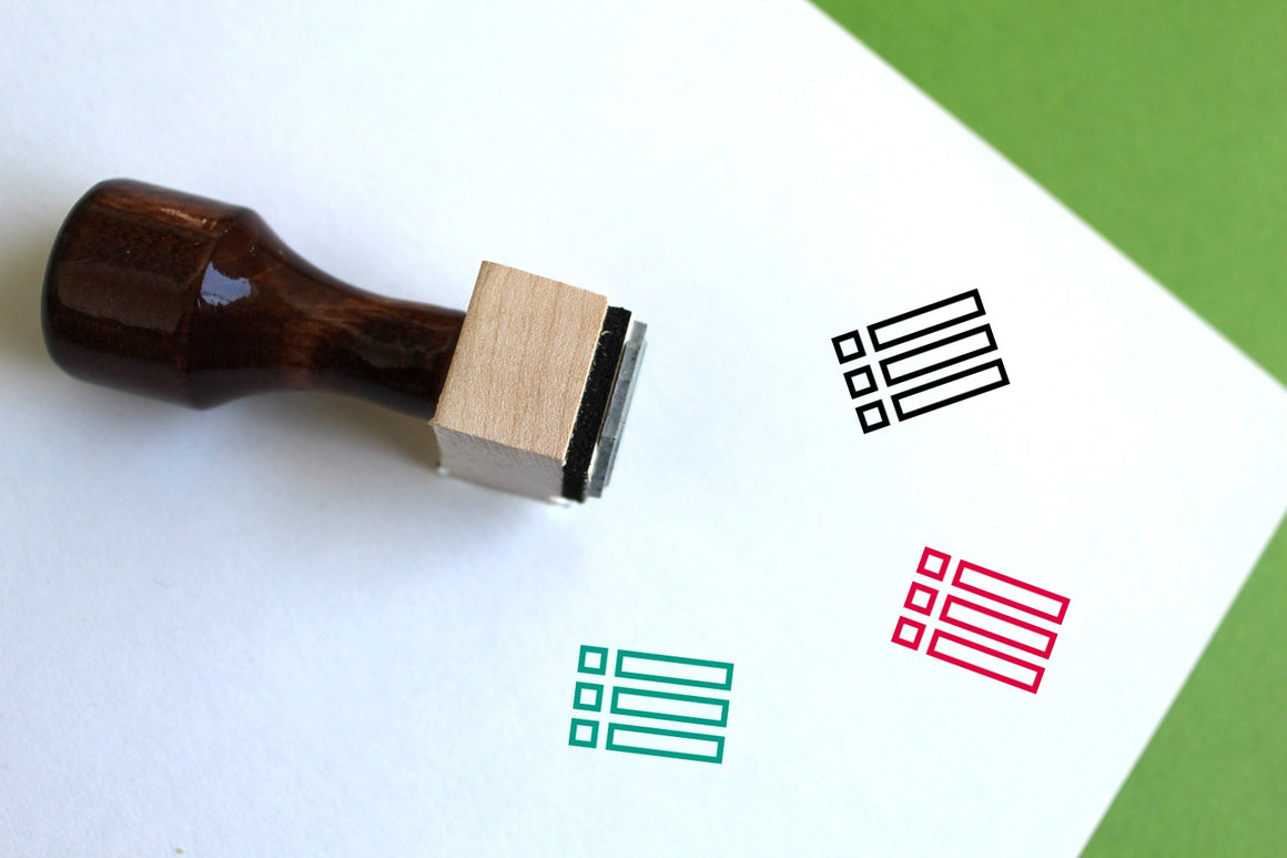Content Wooden Rubber Stamp