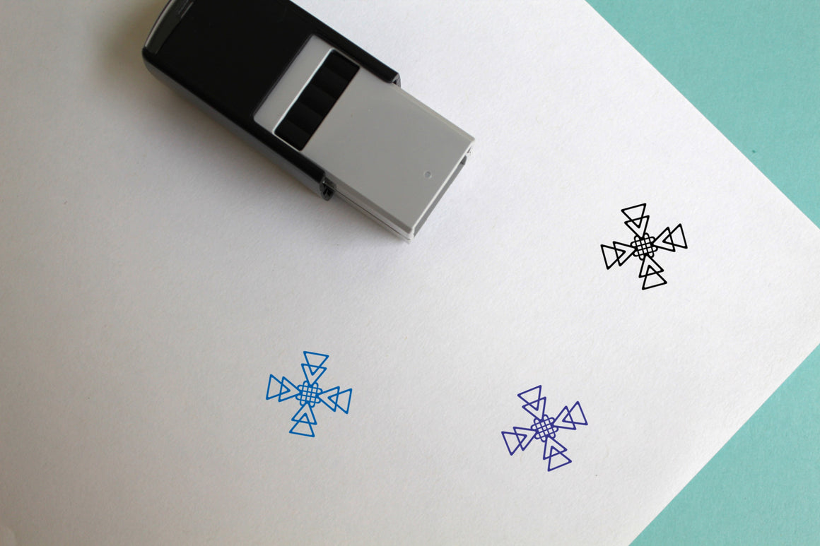 Pattern Self-Inking Rubber Stamp