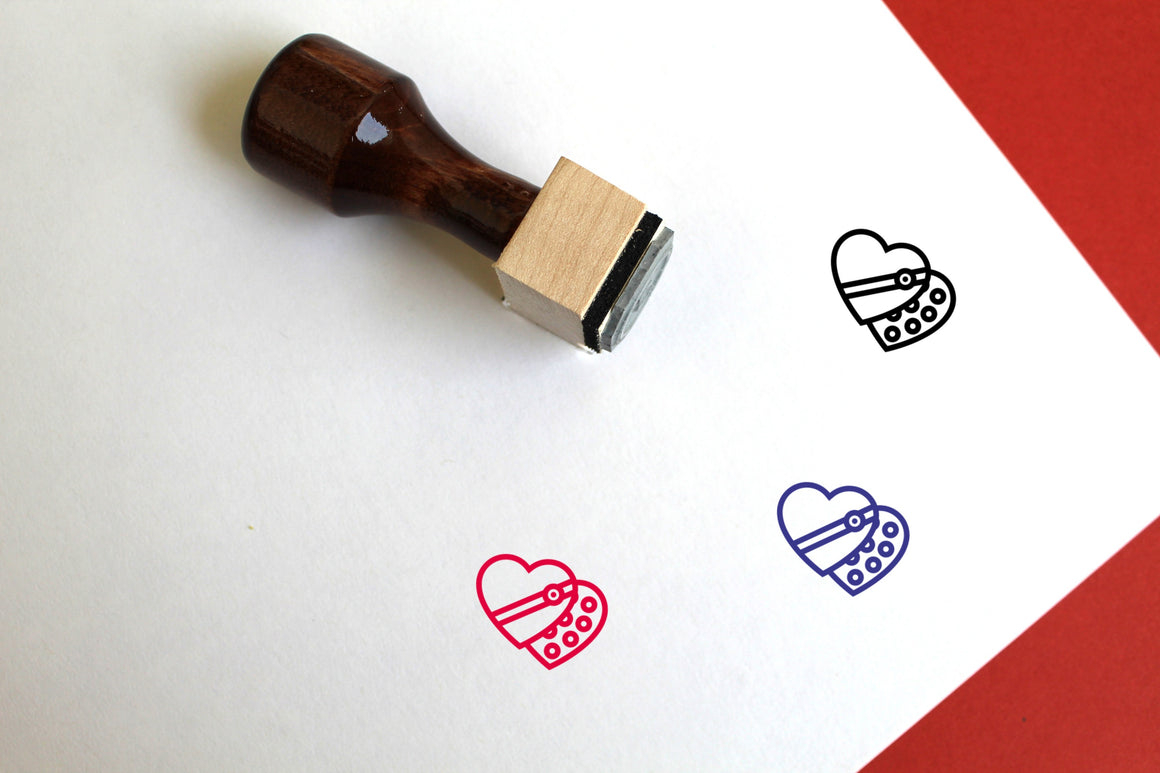 Candies Wooden Rubber Stamp