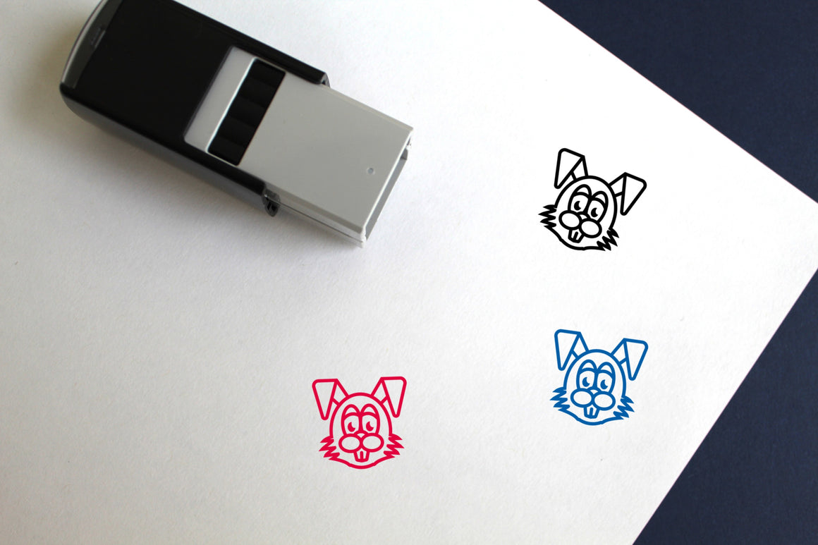 Easter Bunny Self-Inking Rubber Stamp