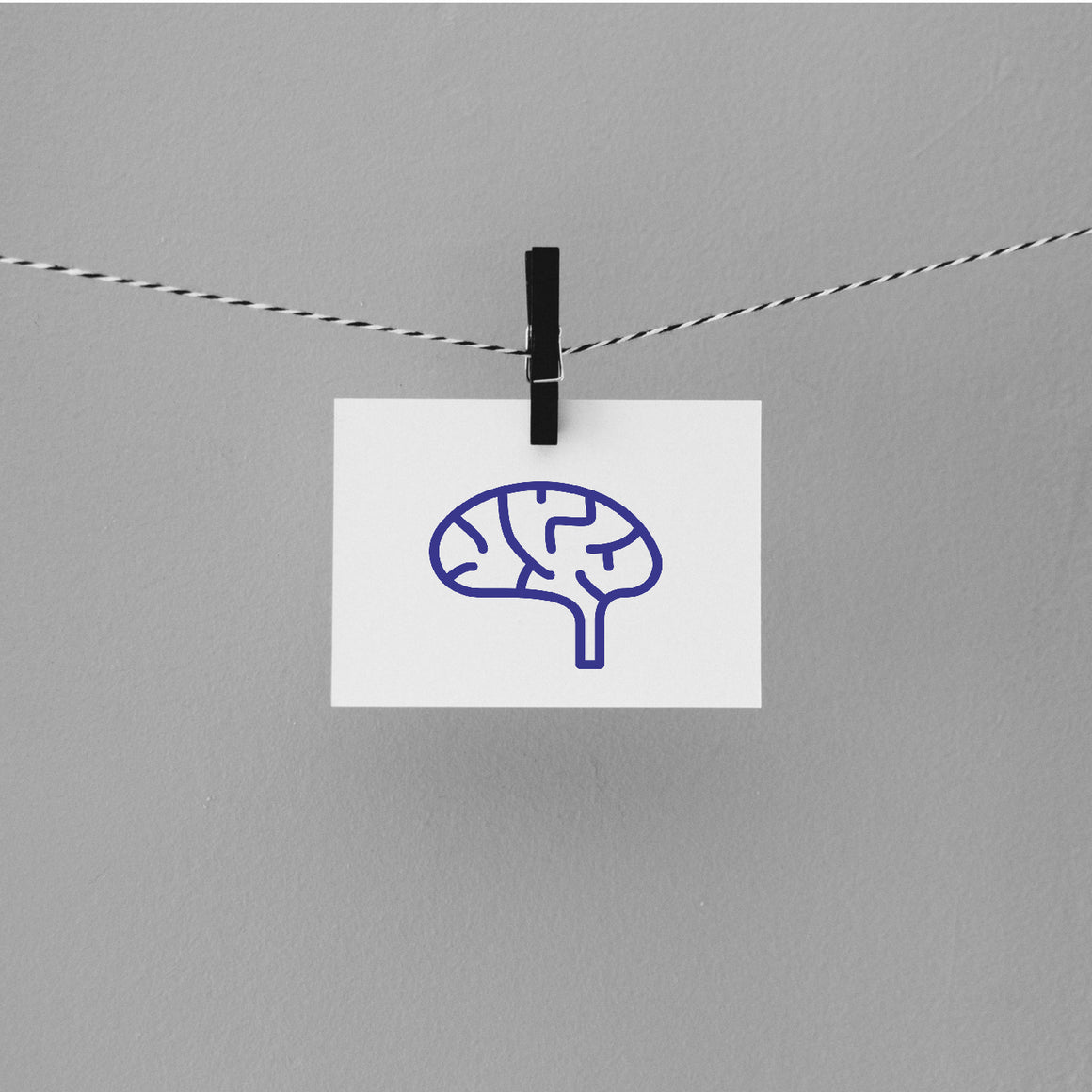 Brain Rubber Stamp