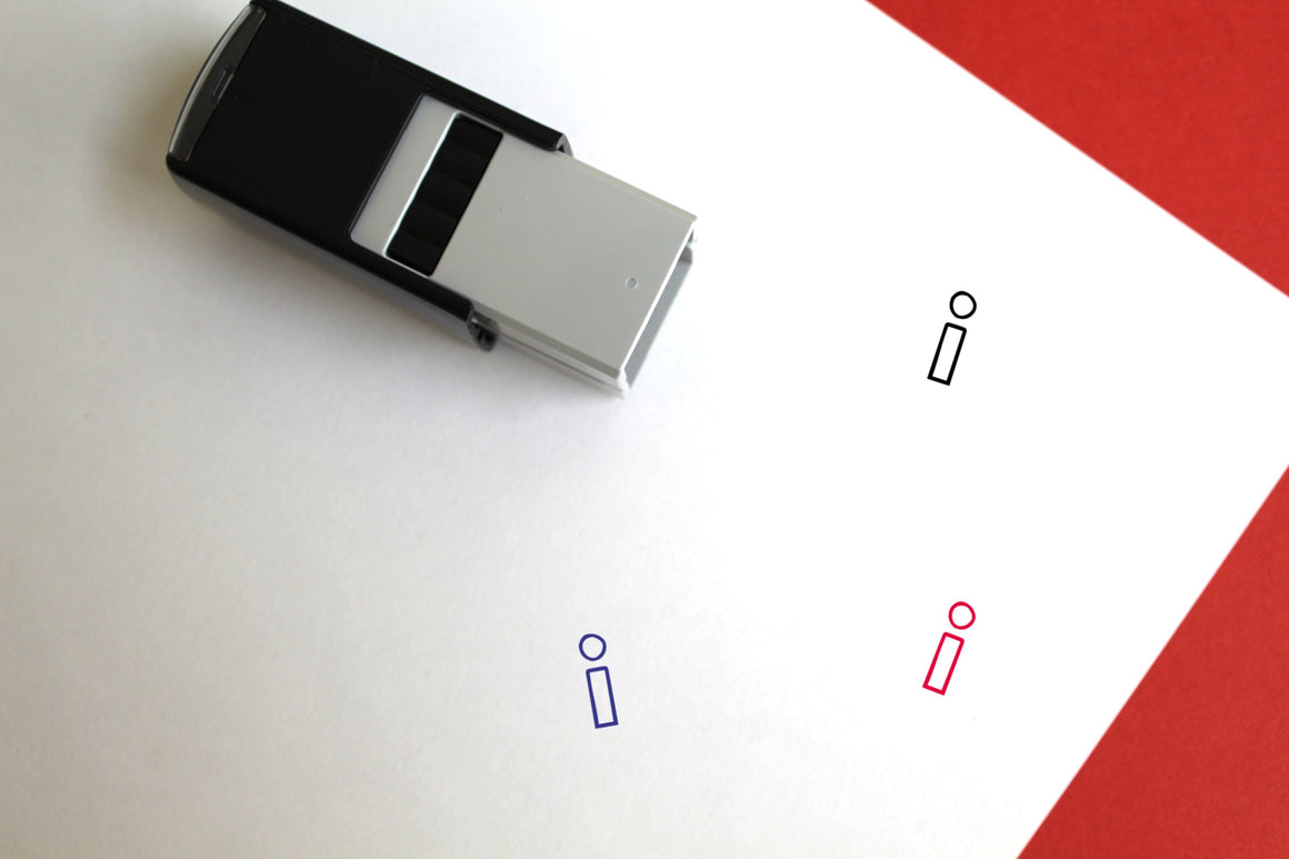 Info Self-Inking Rubber Stamp