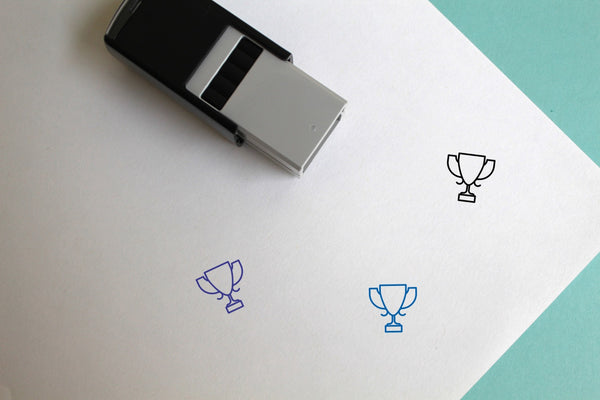 Trophy Cup Self-Inking Rubber Stamp