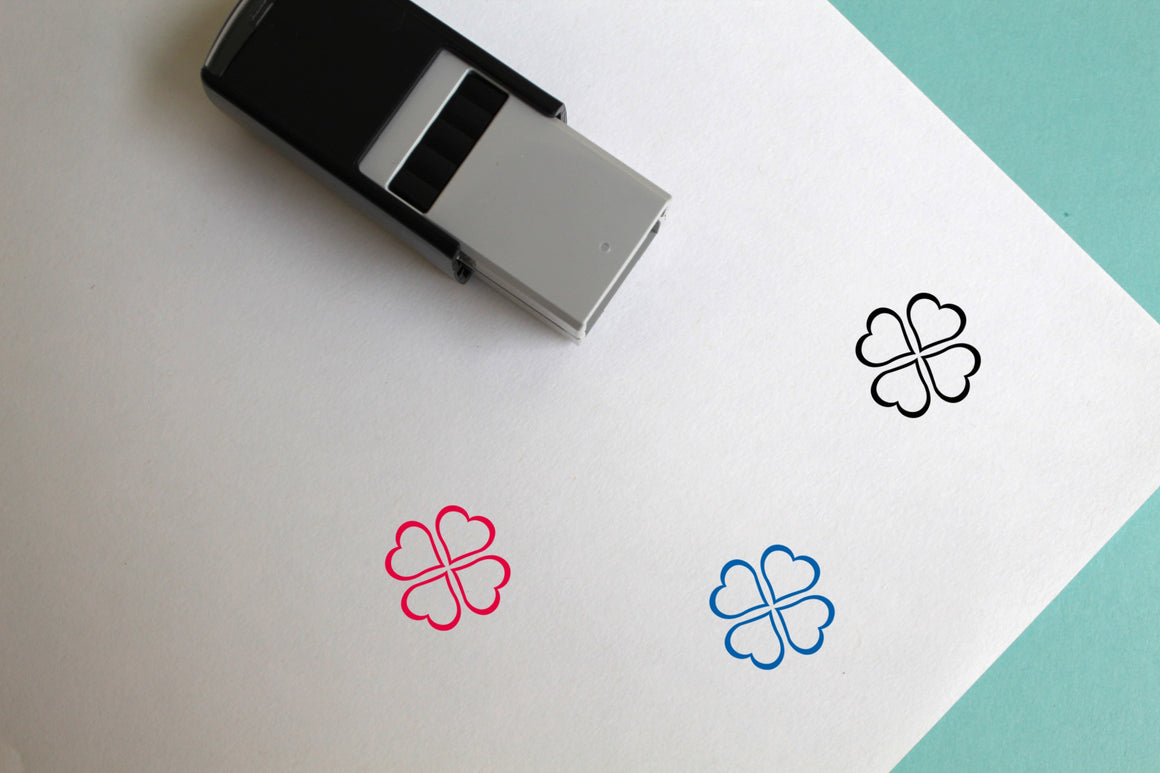 Clovers Self-Inking Rubber Stamp